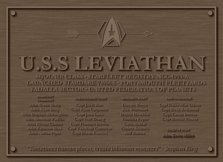Leviathan Plaque